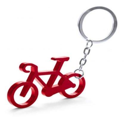 llavero aluminio bicicleta rojo azul negro