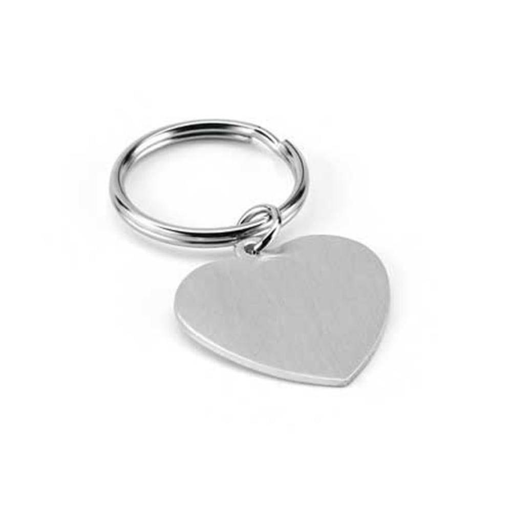 llavero aluminio corazon