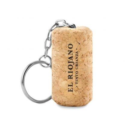 llavero corcho forma tapon vino complemento