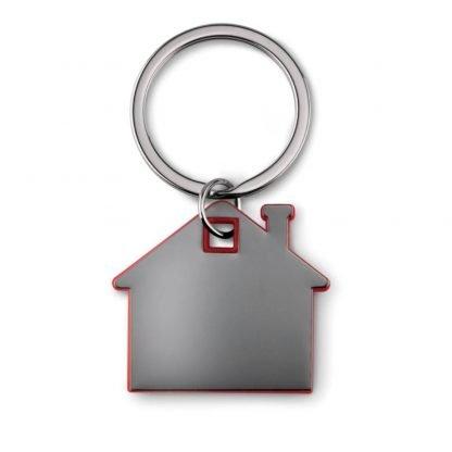 llavero forma casa acero plastico colores