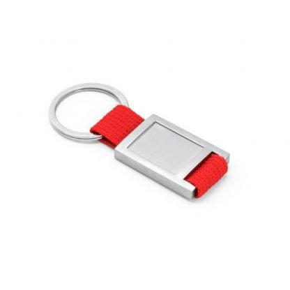 llavero metal gota resina rectangular verde rojo