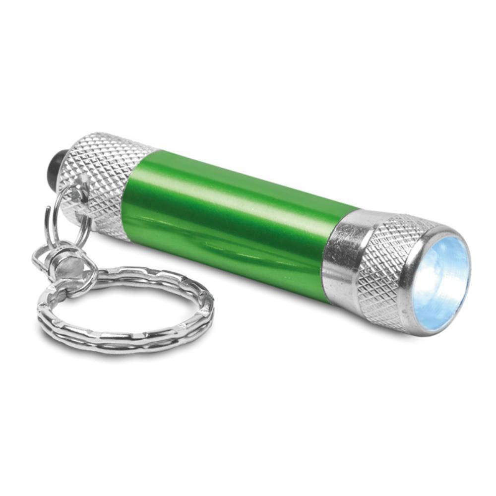 llavero mini linterna aluminio