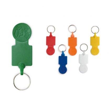 llavero plastico moneda carro colores