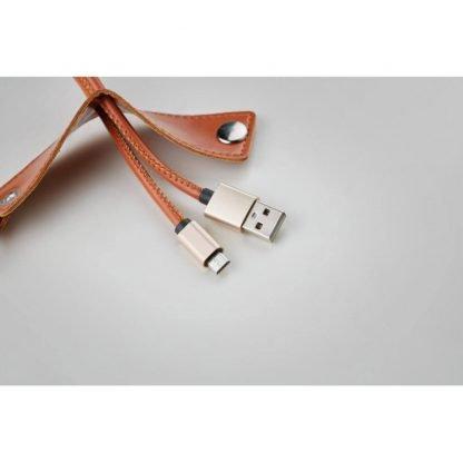 llavero pu cable conector usb