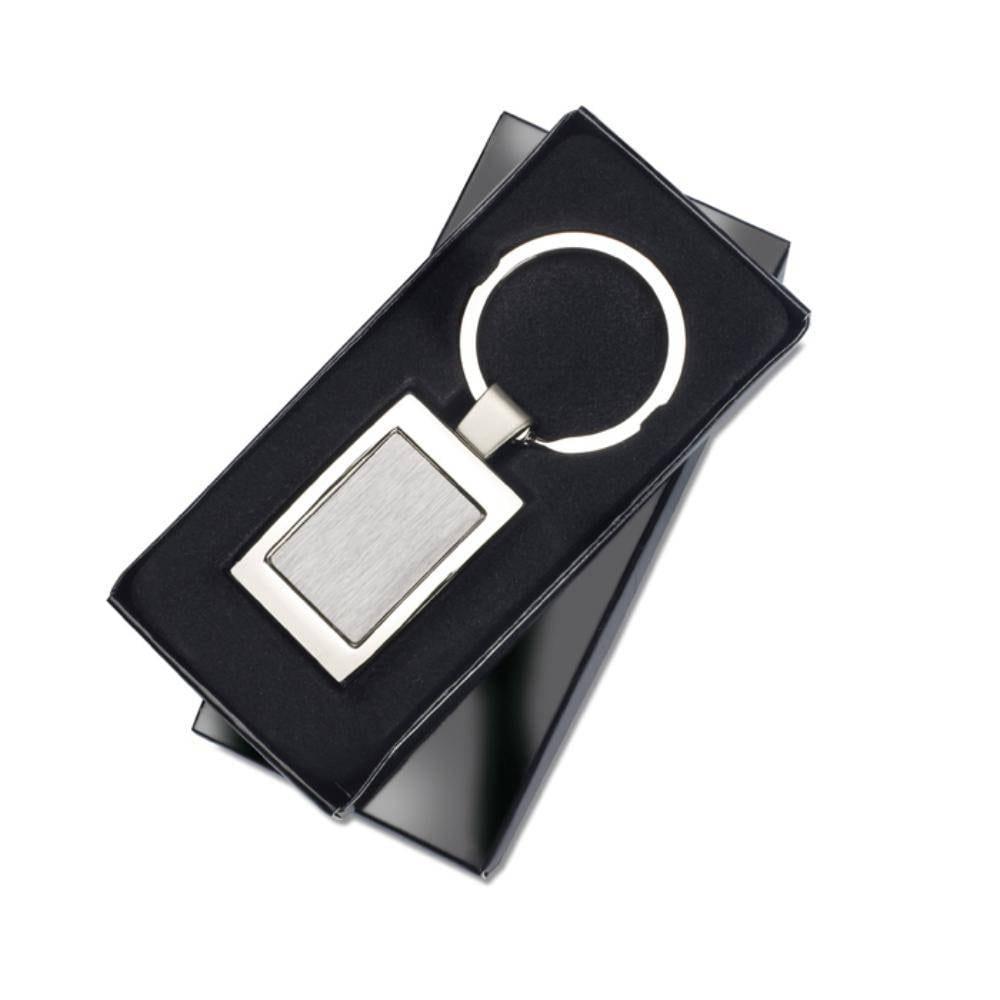 llavero rectangular caja presentacion