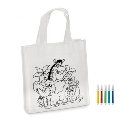mini bolsa infantil colorear