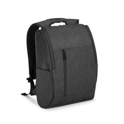 mochila asas acolchado negra viaje bolsillos