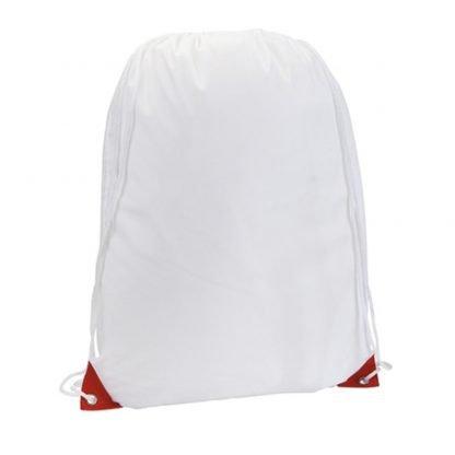 mochila cordones blanca sublimacion acabado color