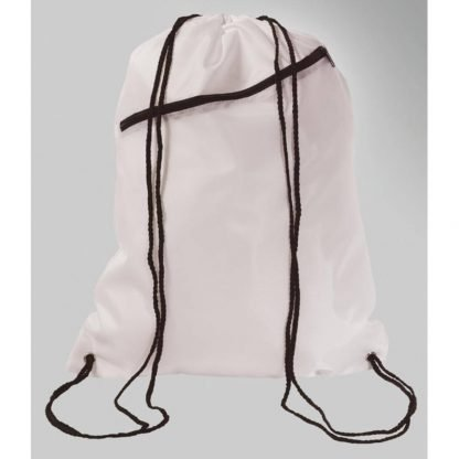 mochila cordones bolsillo cuerdas colores poliester