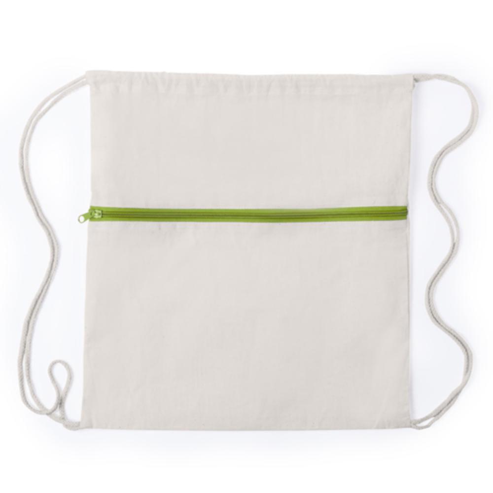 mochila cordones cremallera bolsillo color algodon