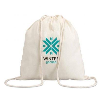 mochila cordones cuerdas crudo natural algodon