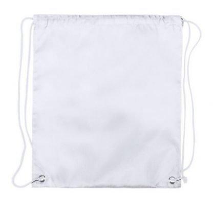 mochila cordones ninos blanca sublimacion