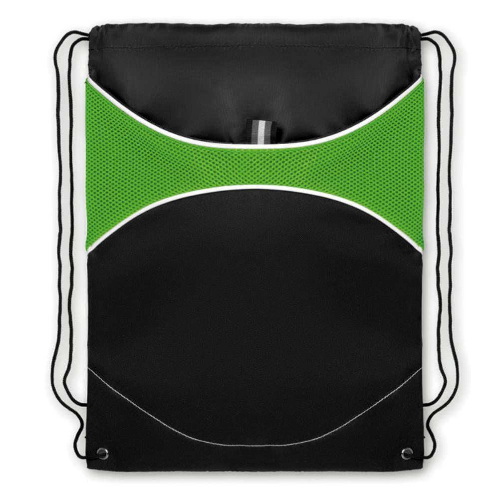 mochila cordones rejilla bolsillo colores deporte