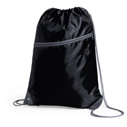 mochila cordones sublimacion cremallera blanca