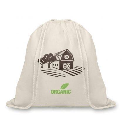 mochila cuerdas cordones algodon organico gramos