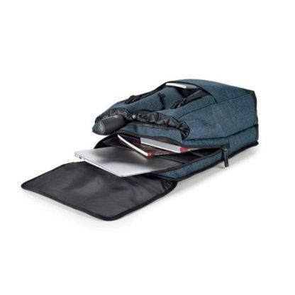 mochila gris bolsillos cinta transportar trolley
