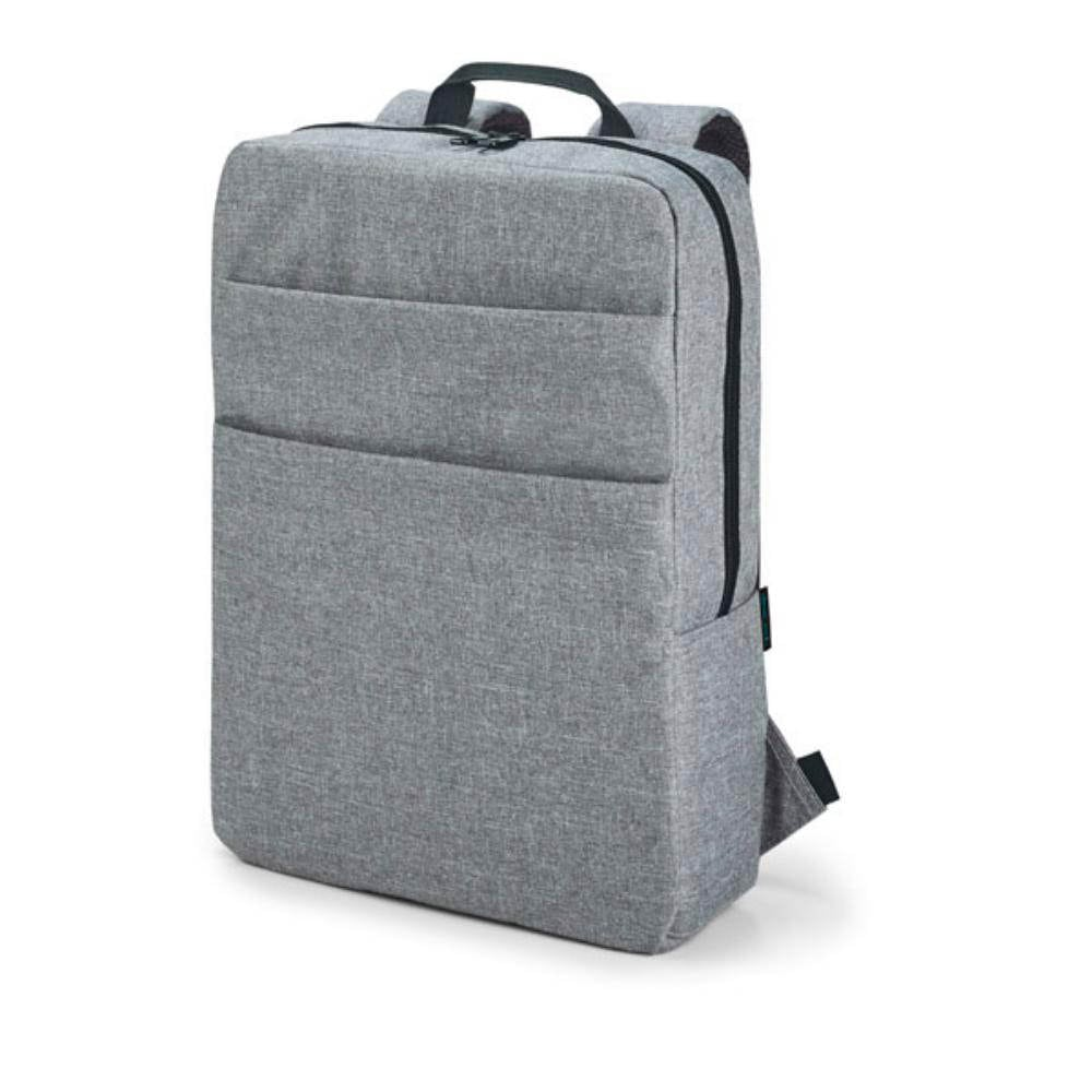 mochila gris urbana diseno acolchada bolsillos