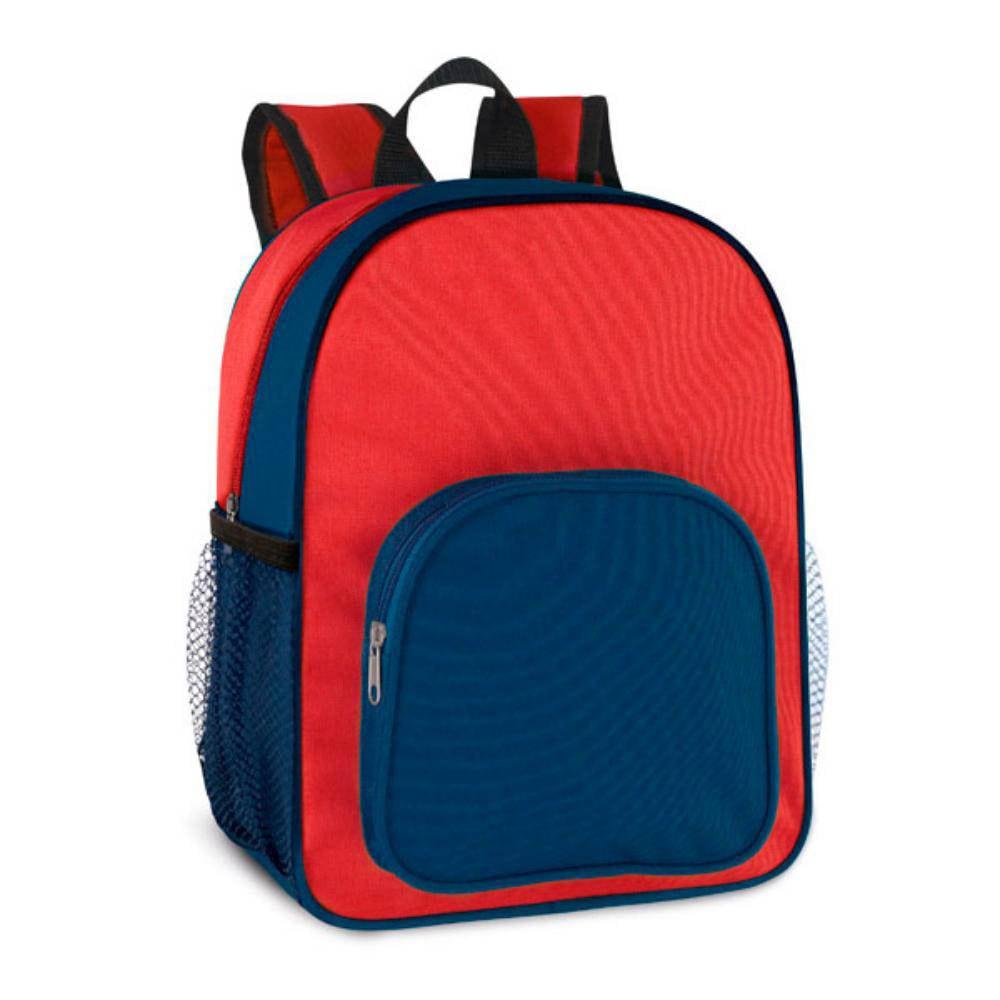 mochila infantil ninos azul roja bolsillos