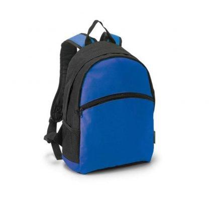 mochila negra poliester amarilla verde azul naranja