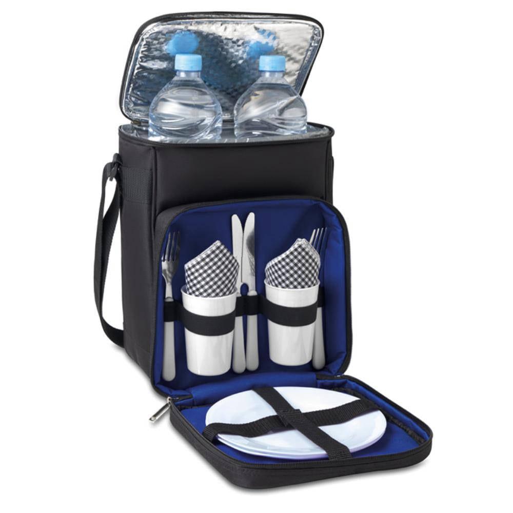 mochila nevera camping tazas platos utensilios