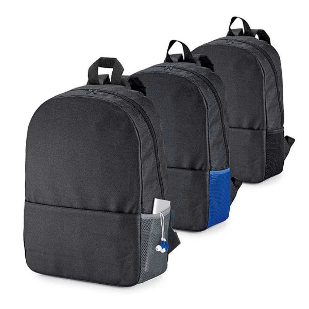 mochila ordenador bolsillo negra azul