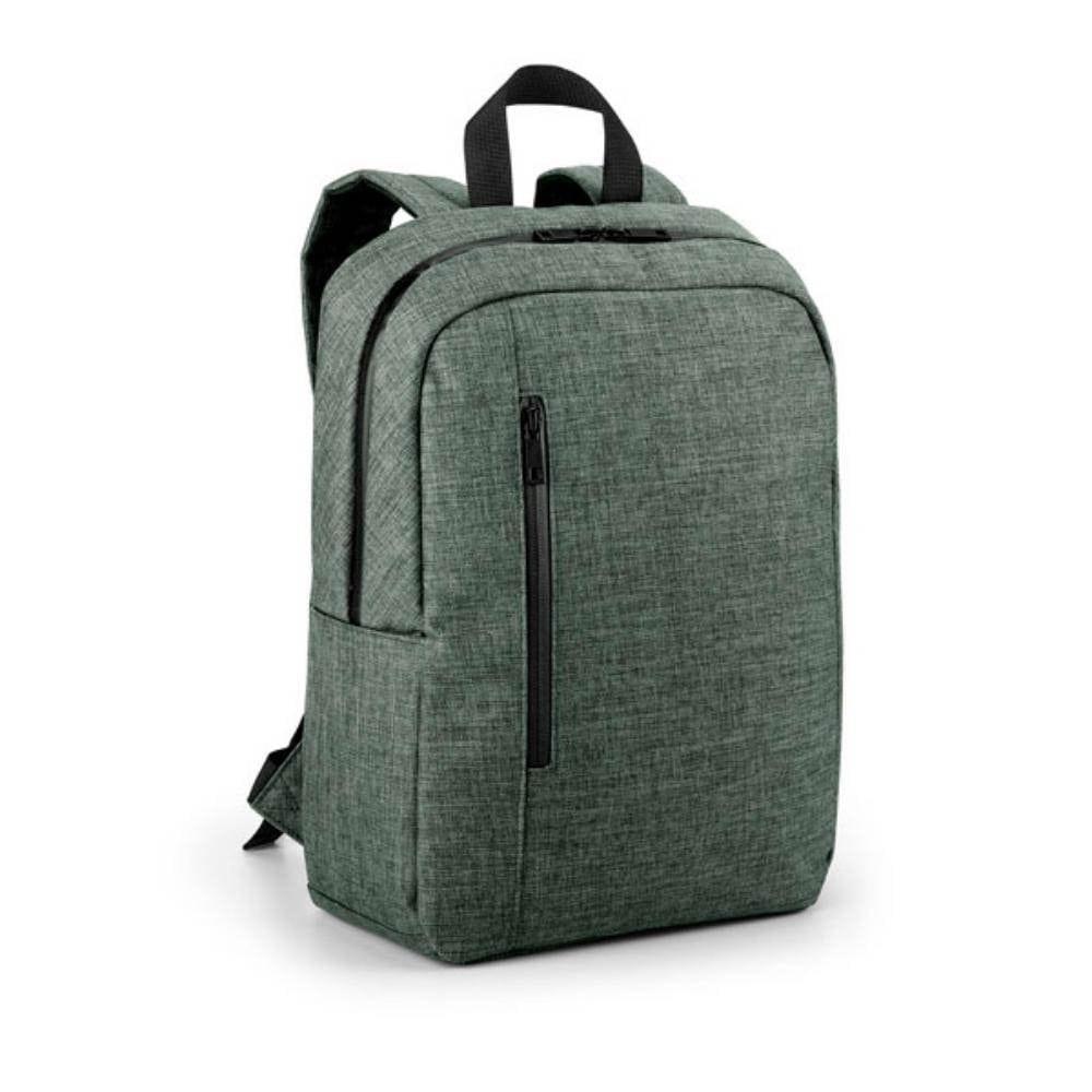 mochila ordenador compartimentos bolsillos gris