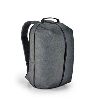 mochila ordenador diseno gris azul compartimentos