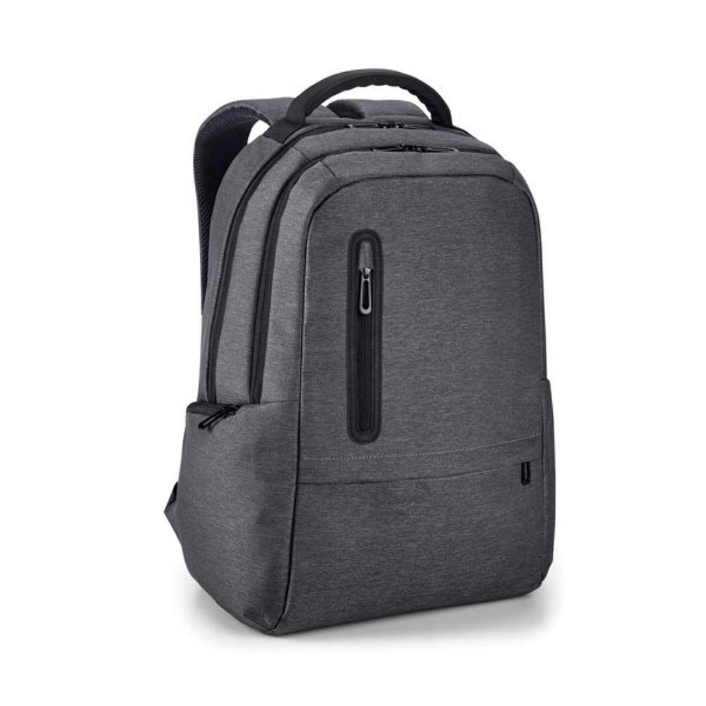 mochila ordenador gris conectar dispositivos moviles