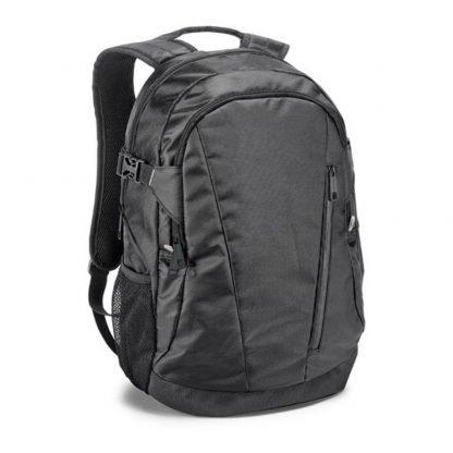 mochila ordenador negra compartimentos bolsillos