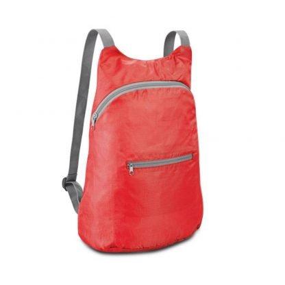 mochila plegable roja negra naranja azul verde