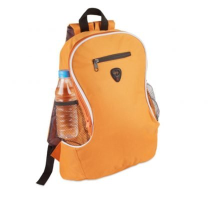 mochila poliester acolchada bolsillos colores deporte