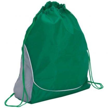 mochila poliester cordones color verde azul roja