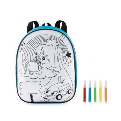 mochila poliester infantil colorear