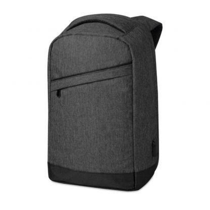 mochila poliester portatil carga usb compartimentos