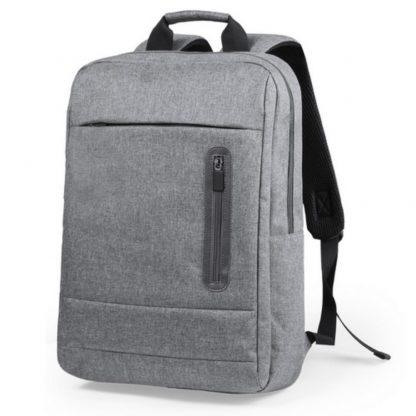 mochila poliester portatil gris negro calidad acolchada