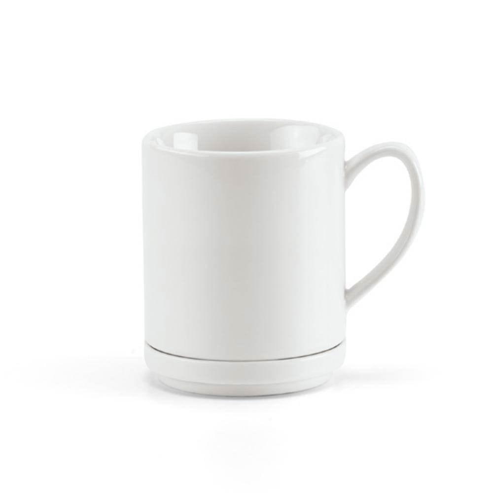 mug taza porcelana te blanca cajita