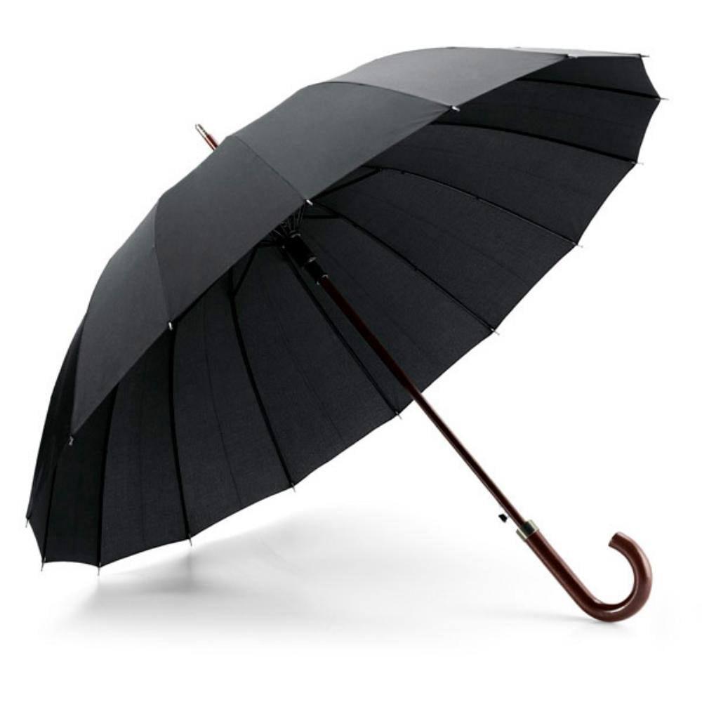 paraguas varillas mango goma negro lluvia