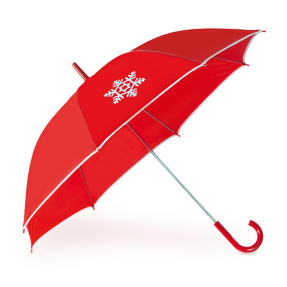 paraguas automatico motivo navidad rojo