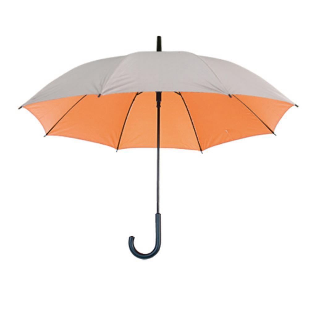 paraguas automatico plateado color mango negro