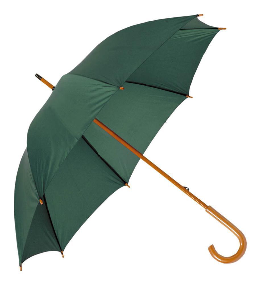 paraguas cano mango madera colores