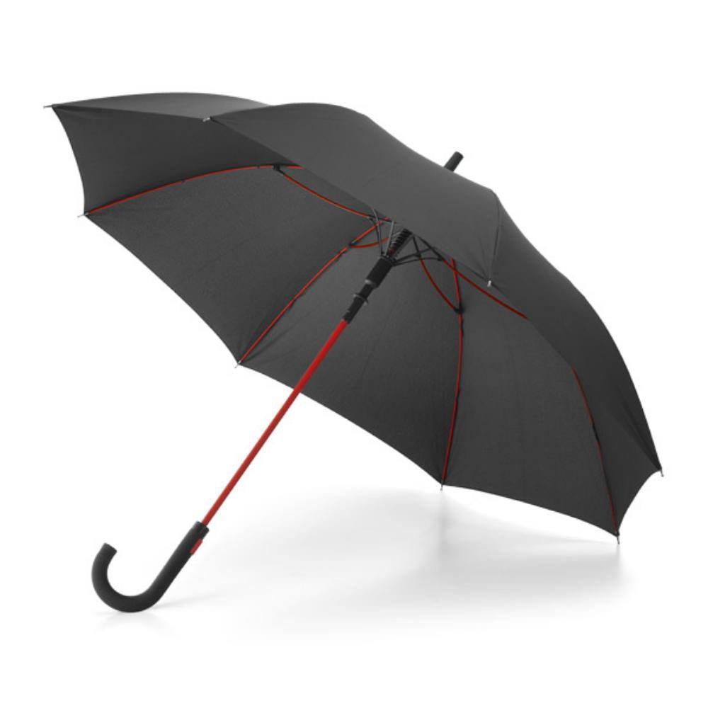 paraguas fibra cristal negro color varillas