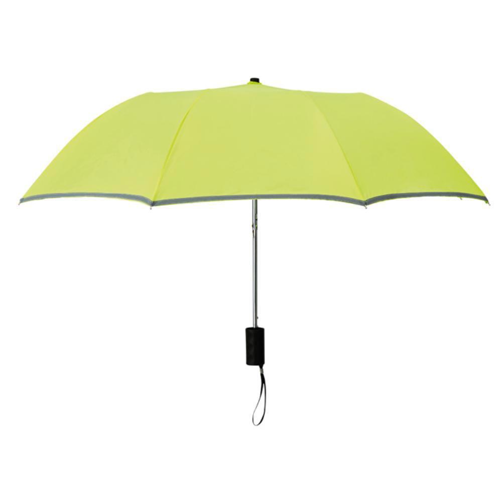 paraguas plegable ribete reflectante lluvia