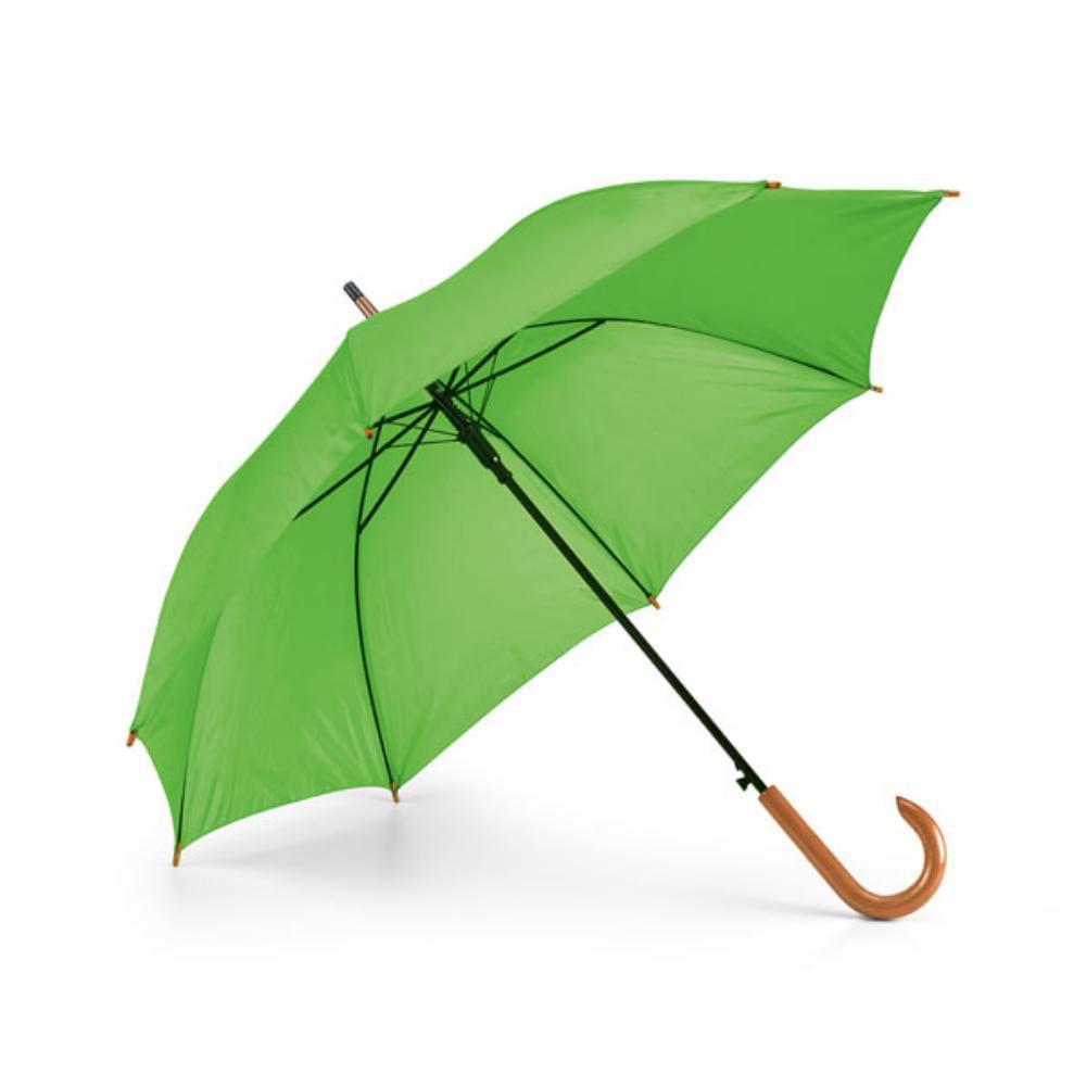 paraguas poliester colores mango madera lluvia