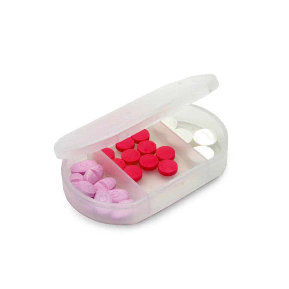 pastillero divisiones azul blanco plastico