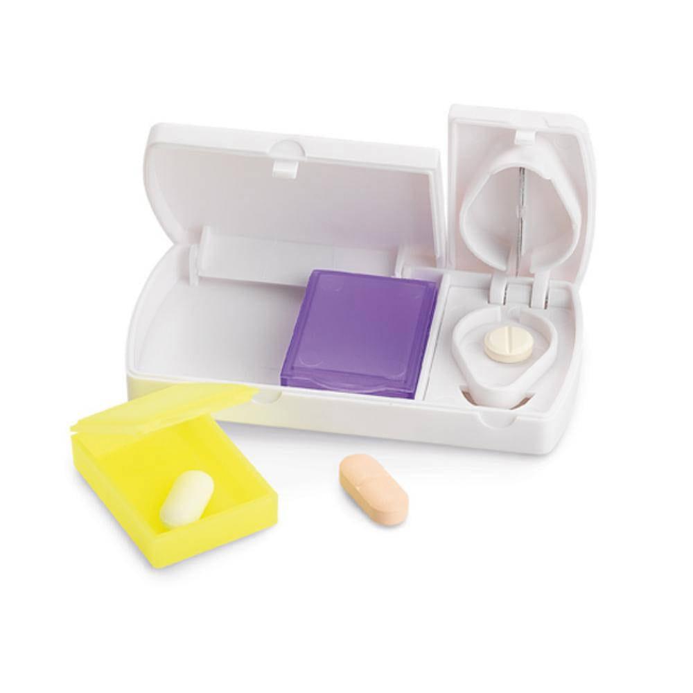 pastillero cortador compartimentos plastico farmarcia