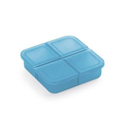 pastillero cuadrado divisiones azul verde naranja