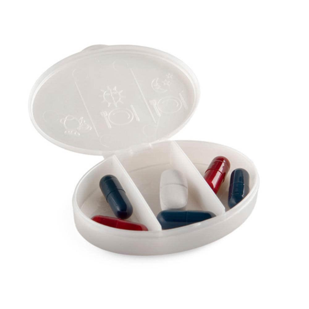 pastillero ovalado divisiones plastico farmacia