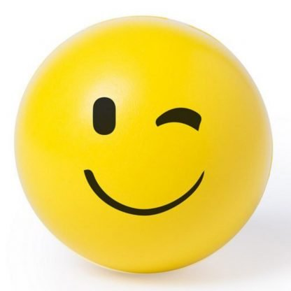 pelota antiestres emoji amarillo