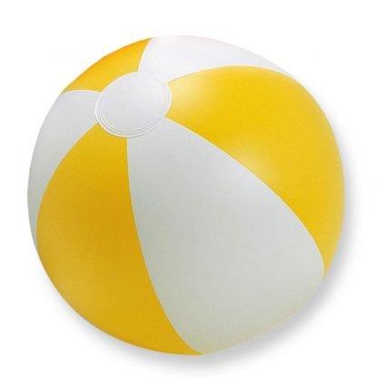 pelota balon jugar playa plastico amarillo