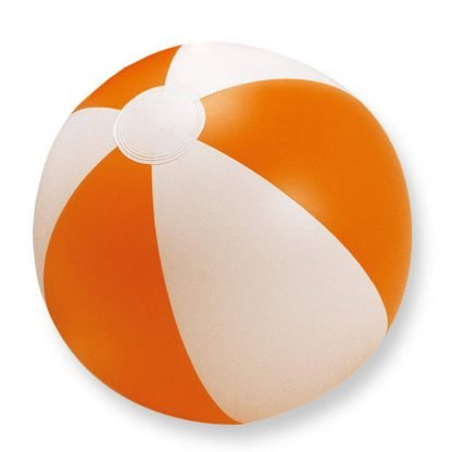 pelota balon jugar playa plastico naranja